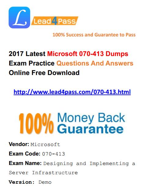 070-413 dumps