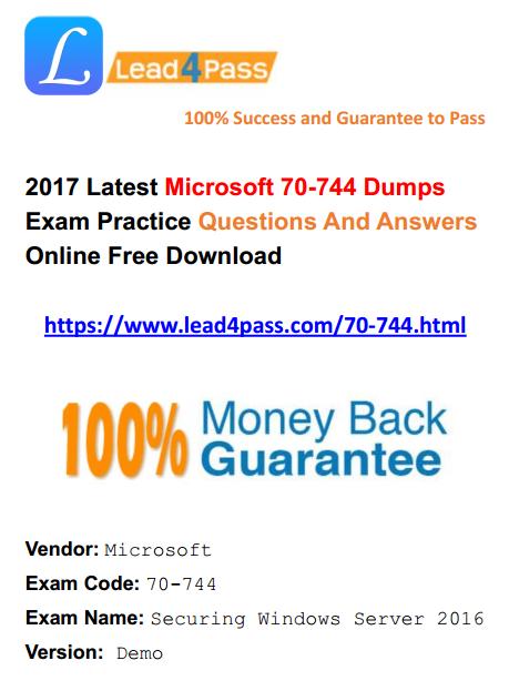 70-744 dumps